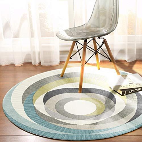 ZI LING SHOP- Ronde Volledige Leuke Kamer Bed Vloermatten Woonkamer Tapijt Slaapkamer Nordic Eenvoudige Koffietafel Geometrische Grote Europese Stijl tapijt B-Diameter 100CM