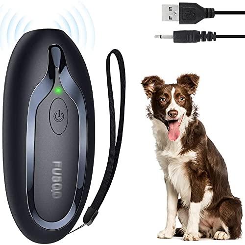 TR-yisheng Dispositivo antiladridos ultrasónico de Mano, Recargable LED Dispositivo de Entrenamiento de Perros de Alta Potencia para Interiores y Exteriores Dispositivo antiladridos portátil
