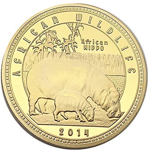 Afrique Zambie Pièce Commémorative Des Animaux Swordnaire Travon Gris Zèbre Buffle L'Éléphant Hippopotame Rouille/d'or/Rond