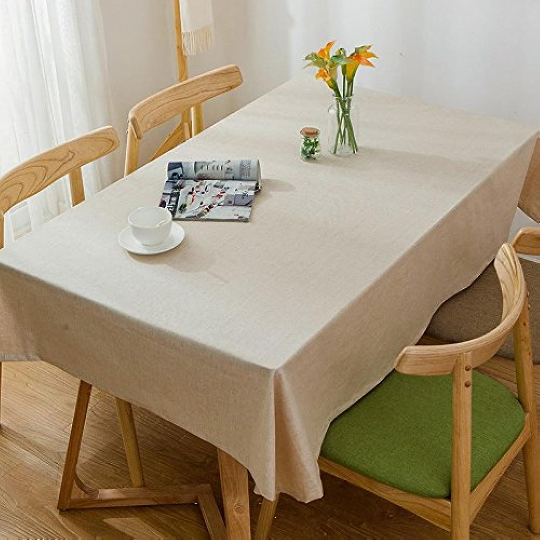 100160cm Kaki solide scandinave minimaliste japonais Instagram Nappe en coton et lin à hommeger Jardin pique-nique rectangulaire voitureré respectueux de l'environneHommest couvrant
