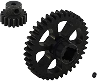 COJOYS Alloy 1set 38T Differential Main Gear & Motor Gear 17T for RC 1/18 WLtoys A949 A959 A949 A959 A969 A979 RC Car Buggy Hop up Parts