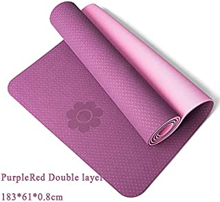 Extra Thick Yoga Mat Extra Thick Non-Slip Foam Yoga Mats Free Bags for Fitness Tasteless Pilates Gym Exercise Pads with Yoga Strap 183cmX61cm Violet