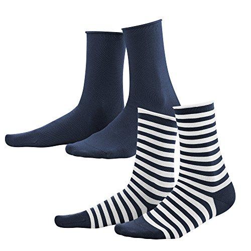 Living Crafts Socken, 2er-Pack 35-38, navy/white