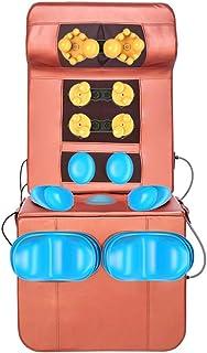 Almohadilla del asiento de masaje Masajeador de espalda Almohadillas del asiento de masaje Cojín de masaje de vibración Colchoneta de masaje con vibración Calor 8 Vibraciones de motor 5 Modos