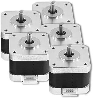 Unique India 5 Pcs Nema 17 4 Kg-cm Bipolar Stepper Motor 10mm shaft For CNC Robotics DIY Projects 3D Printer