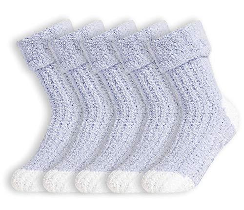 CityComfort Calcetines Mujer Invierno, Calcetines Antideslizantes Mujer, Calcetines Termicos Con Forro Polar Para Andar Por Casa, Regalos Originales Para Mujer Talla Unica 37-40
