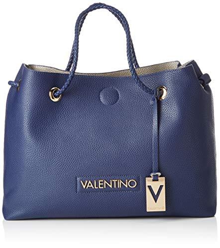 Mario Valentino VBS0ID02 - Bolsa de Poliuretano Mujer, color Azul, talla 12.5x30.5x40...