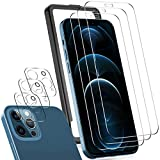 IVSO【3枚】 iPhone 12 Pro Max 適用 フィルム+【3枚】 iPhone 12 Pro Max 適用 カメラ ガラスフィルムiPhone 12 Pro Max 適用 ガラスフィルム強化ガラス液晶保護フィルム【ガイド枠付き】(6.7インチ)
