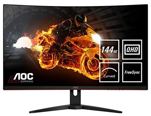 AOC Écran gaming incurvé CQ32G1 80cm (31,5pouces) (HDMI, DisplayPort, 2560x1440 à 144Hz, 1ms, Free Sync) noir