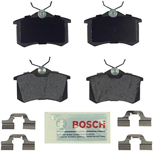 Bosch BE340H Blue Disc Brake Pad Set For: Audi A3 A4 A6 A8 Allroad RS6 S4 S6 S8 TT Quattro; Volkswagen Beetle, Cabrio, Corrado, Derby, Eos, Golf, Jetta, Lupo, Passat, Quantum, Scirocco, Vento, Rear