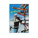 St. Moritz Schweiz 1960er Retro Vintage Reise-Poster