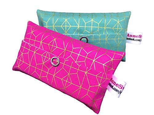 Zakdoeken zakjes set mint en roze/goud design adventskalender vulling kaboutergeschenk cadeautje give Away medewerkers Kerstmis afscheidscadeau