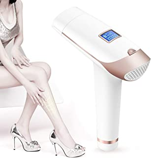 Jukmen Permanent laser Hair Removal, IPL Laser Epilator 2 in 1 300,000 Flashes Painless Electric Machine With LCD Display, Face & Body Bikini Trimmer Laser Hair Removal for Women and Men (Rose Gold)