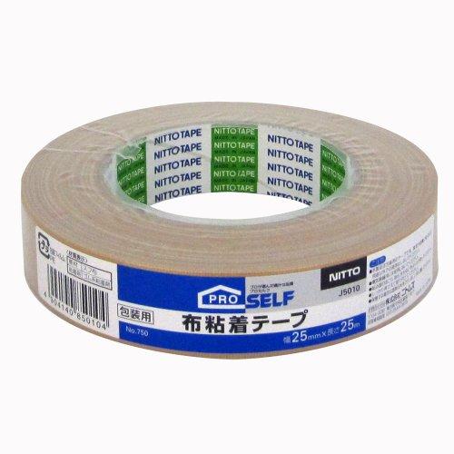 ニトムズ 布粘着テープ No.750 シュリンク 25mm×25m J5010