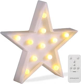 light up star wall decor