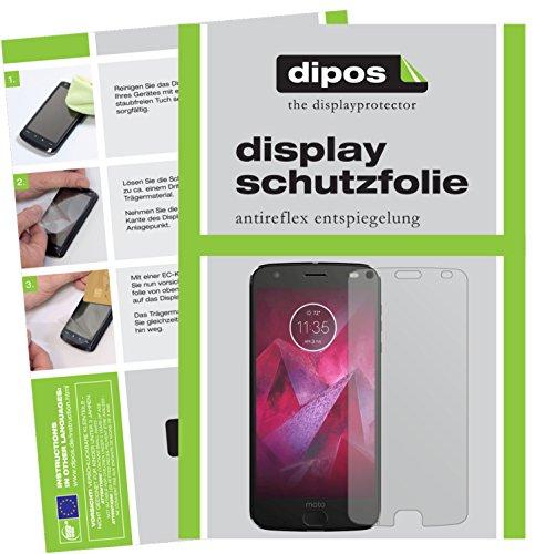 dipos I 2X Schutzfolie matt kompatibel mit Lenovo Moto Z2 Play Folie Bildschirmschutzfolie