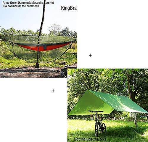 KingBra - Mosquitera de 360 Grados con mosquitera y mosquitera de 330 x 150 cm con Cuerda de Viento y toldo multifunción, Resistente al Agua, Item-4