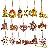 Pveath 17Pcs Christmas Tree Ornaments Tiere Hand Schneeflocke Anhänger Weihnachtsbaum Dekoration Lebkuchenmann Puppe Ingwer Mann Hängen Charme Christbaumschmuck Weihnachtsschmuck