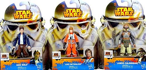 Hasbro Star Wars Bundle mit Han Solo, Luke Skywalker X-Wing Pilot & Lando Calrissian