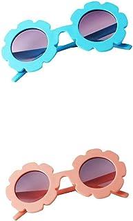 Injoyo - 2x Gafas De Sol Vintage Flower Para Niños Pequeños