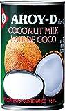 AROY-D Leche De Coco, Contenido De Grasa 17-19 % 160 g - Lot de 12
