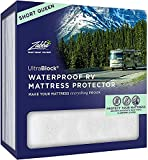 UltraBlock RV Short Queen Waterproof Mattress Protector - Premium Soft Cotton Terry Cover
