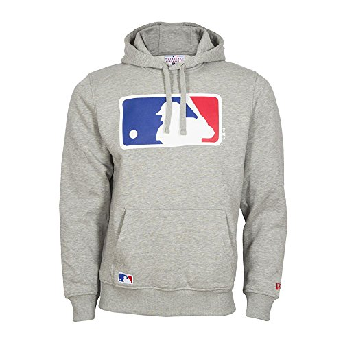 New Era Herren MLB Logo Hoodie, Grey, 4XL