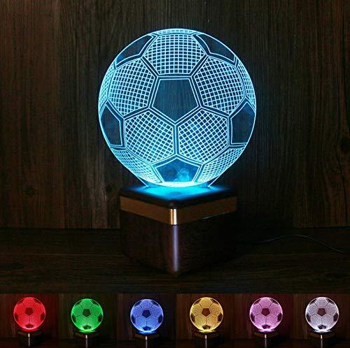 Yughb Altavoz Bluetooth de Madera, Altavoz Bluetooth de Sonido de Alta definición, luz Colorida de la Noche 3D, luz de Madera Creativa de la atmósfera
