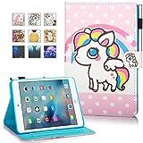 New iPad 9.7 Inch 2017 2018 Case, iPad Air 2, iPad Air Case, MonsDirect Flip PU Leather Case Kickstand Smart Wake Sleep Protective Cover for iPad 9.7 Inch 2017 2018, iPad Air 1 2, Pony