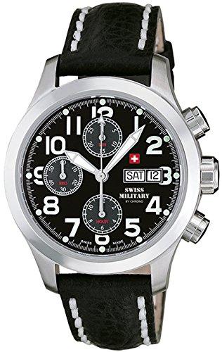 Swiss military orologio Uomo Analogico Automatico con cinturino in Pelle di vitello SMA30007.12