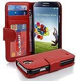Cadorabo Coque pour Samsung Galaxy S4 en Rouge Cerise – Housse Protection avec Fermoire Magnétique et 3 Fentes Cartes –...