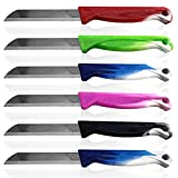 Solingen Obstmesser Schälmesser Gemüsemesser Allzweckmesser Edelstahl Messer rostfrei Küchenmesser Tafelbesteck Messerset Alltagsmesser 6er Set Bunt