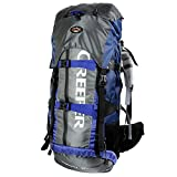 CREEPER Unisexe Imperméable Mode Professionnel Outdoor Sports Sac Randonnée Camping Trekking Escalade Alpinisme Sac à dos (60L, Bleu)