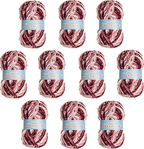 Hilo de chenilla aterciopelada para Tejer Punto Crochet o Ganchillo CHEVIOTTE MULTICOLOR de TORRIJO 85g (10 unidades * 85g) | Multicolor-12662