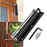Residential Door Closer, Silent Pulley Design, Adjustable Automatic Safety Door Closer, Self-Closing Aluminum Alloy Door Closers, for Commercial Door