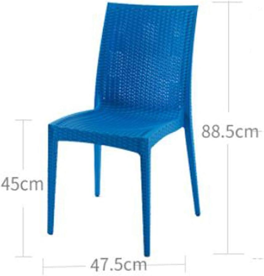 Stable Simple chaise bureau étudiant et chaise de maquillage tabouret retour à la maison à manger chaise d'ordinateur Gratuit (Color : Blue) Blue