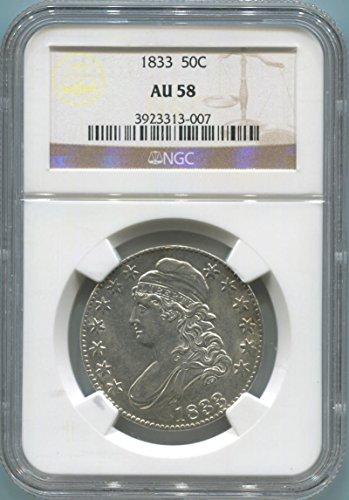 1833 P Capped Bust Half Dollar Half Dollar AU58 NGC