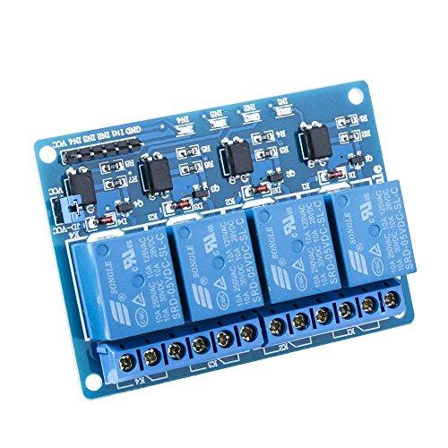 SeeKool Módulo Relé 4 Channel DC 5V acoplador óptico