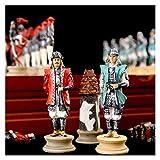 Conjunto De Ajedrez Plegable Historia Tema De Japón'Swarring States Período Juegos De Ajedrez De La Resina Muñeca Chess Pieces Juego De Madera Juego Juego De Ajedrez Lujo Juego de ajedrez magnético