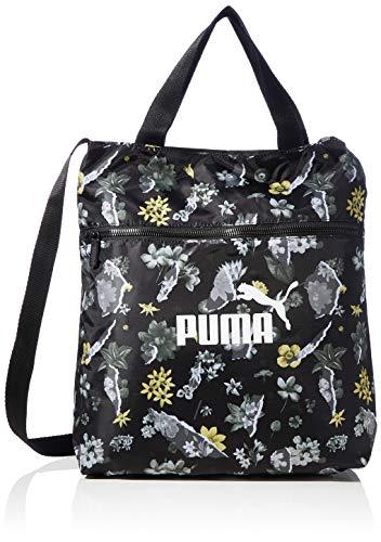 Puma WMN Core Seasonal Shopper da donna, Donna, Borsa per la palestra, 77385, Puma Black AOP, Taglia unica
