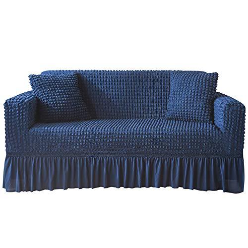 NOBCE Impresión de la Cubierta del sofá Fundas de sofá elásticas Fundas de sofá para la Sala de Estar Sofá de Esquina Toalla Funda de sofá Funda de Muebles Funda Azul 145-185CM