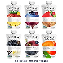 DELICIOUS AND REFRESHING SMOOTHIES: Organic, Non-GMO, Vegan, Gluten-Free, Kosher. No artificial ingredients or preservatives. No refrigeration needed so you can take or keep them anywhere. HEALTHY SNACK FOR ALL AGES: Our delicious smoothies are suita...