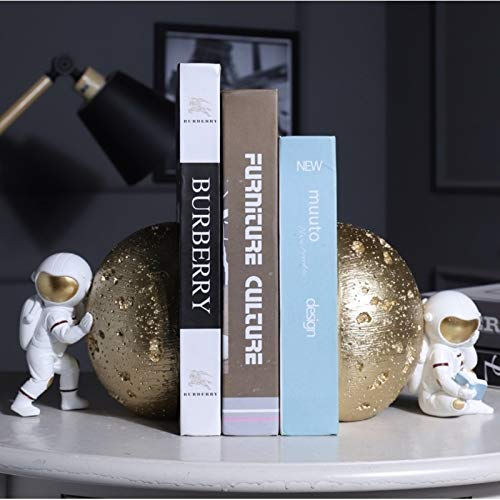 Creative Astronaut Book School Students Book Stand Metal Bookends Holder Desk Stands For School Stationery Amp Office (Color : 001)