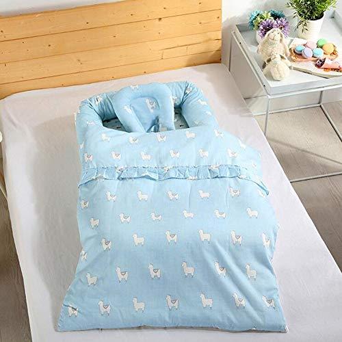 ZIXIANG Lits-Cages Lit Bionique Baby Lounger pour Le Nouveau-né, Nid De Bébé, Coton Doux Berceau Bébé pour Lit Portable Berceaux Lits bébé Berceaux (Color : Blue)