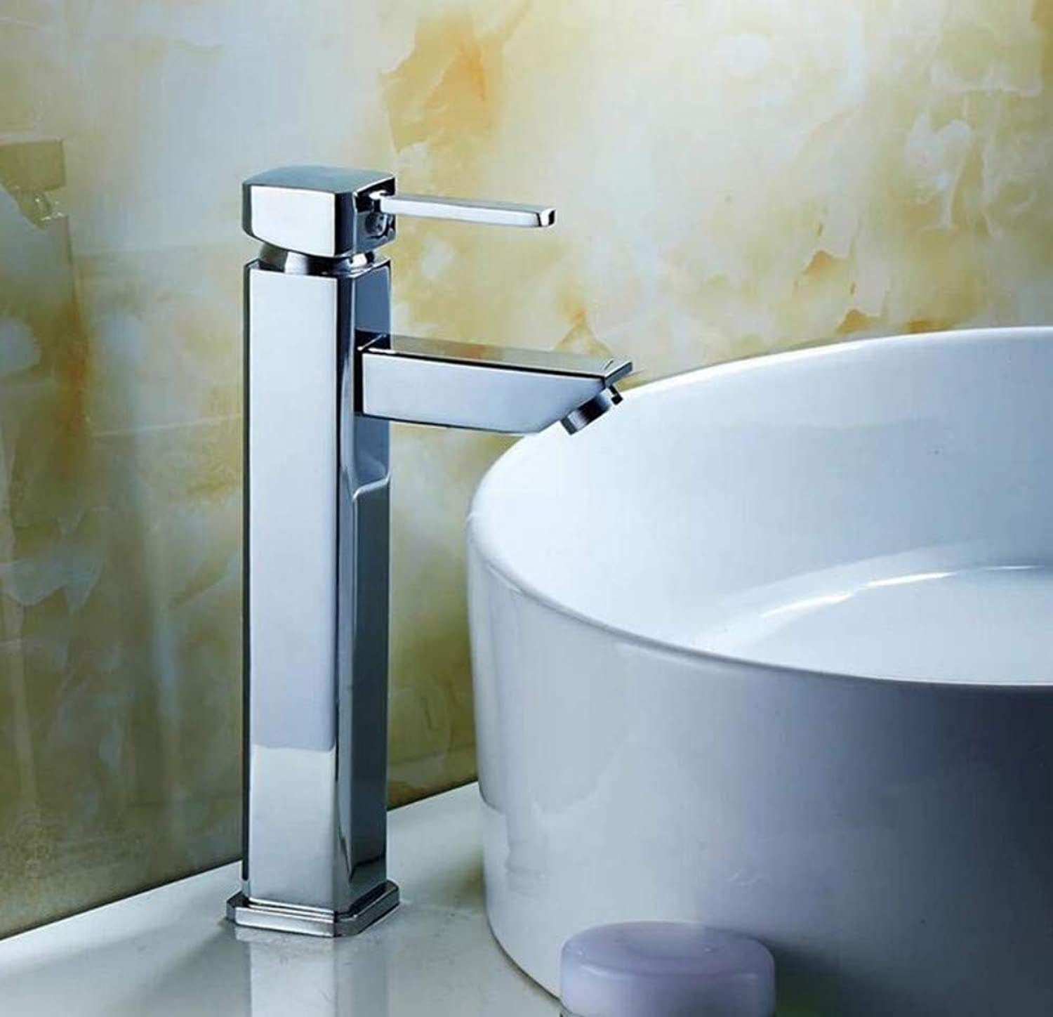 Brass Hot and Cold Chrome Plating Hot and Cold Mixer Water Tap Basin Kitchen Bathroom Wash Basin Faucet