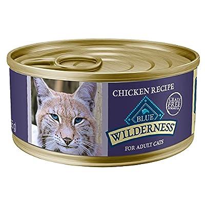 Blue Buffalo Blue Wilderness Chicken Canned Cat Food, 3 oz, Case of 24, 24 X 3 OZ