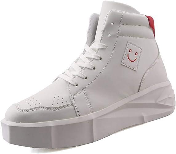 KMJBS-Men Chaussures de Haute pour Fond épais Divertissement Haute décontracté gateau éponge Chaussures Night Club Youth Noir Trente-Neuf