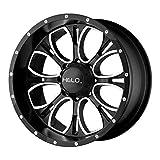 Helo HE879 17x9 6x5.5 18mm Black/Machined Wheel Rim 17' Inch