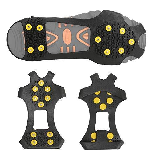 01 10 Zähne Zinklegierung EIS Schneegreifer, Schuhspikes, EIN Paar Leichtes Klettern Gehen für Stiefel Schuhe Schuhe Angeln(M Size (36-40 Shoes))