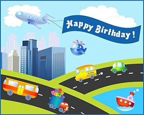 Party Hub - Vehicles Theme Birthday Banner